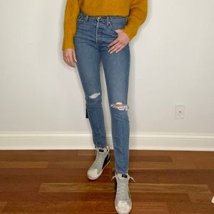 Re/Done High Rise Stretch Jeans